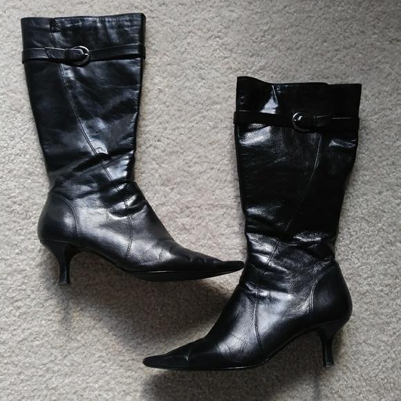b4b9dd866d0 🌾 Bandolino Crochet Genuine Leather Buckle Boots